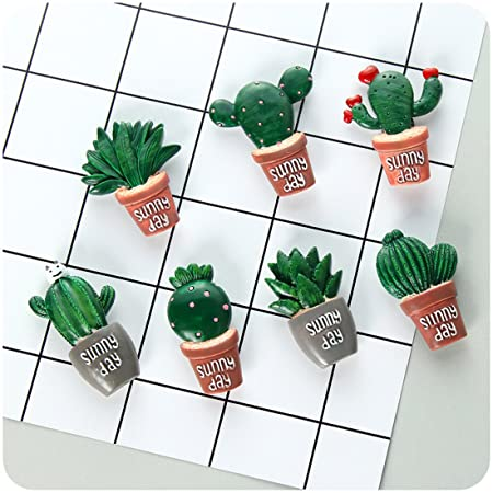 Union Tesco 7 pcs Cute Cactus imanes para nevera para pantallas de ...
