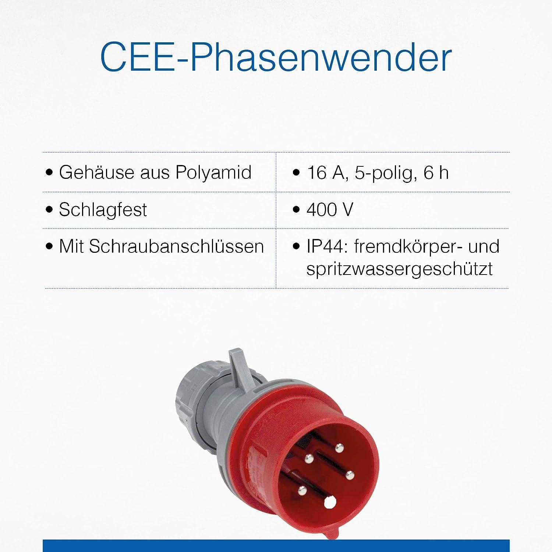 fiche CEE avec inverseur de phase 16/A/ /400/V as/ /Schwabe 60460/Prise courant fort