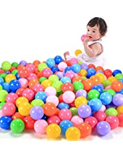 200Pcs Multicolor Baby Kid Child Swim Pit Toy Round Soft Plastic Ocean Ball Random Color
