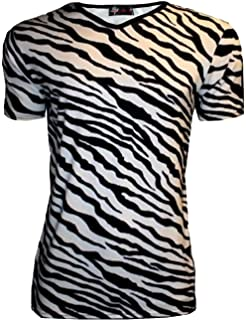 e0ae45030af116 Original Leopard Animal Print V-Neck T-Shirt: Amazon.co.uk: Clothing