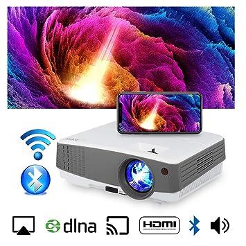 Proyector portátil inalámbrico para el hogar HD 720P 3300 Lumen ...