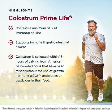 Jarrow Formulas Colostrum Prime Life, 500mg - 120 Cápsulas
