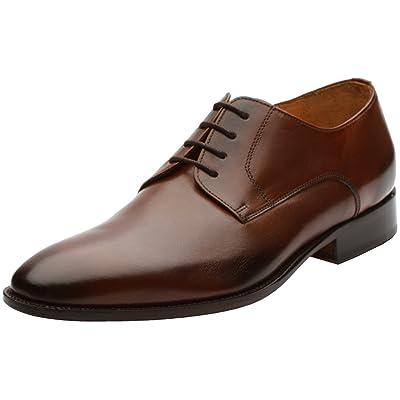3DM Lifestyle Men's Plain Derby Calfskin Leather Lined Lace Up Oxford Dress Shoes   Oxfords