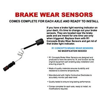 R1 Concepts O.E Quality Brake Pad Wear Sensor-Rear