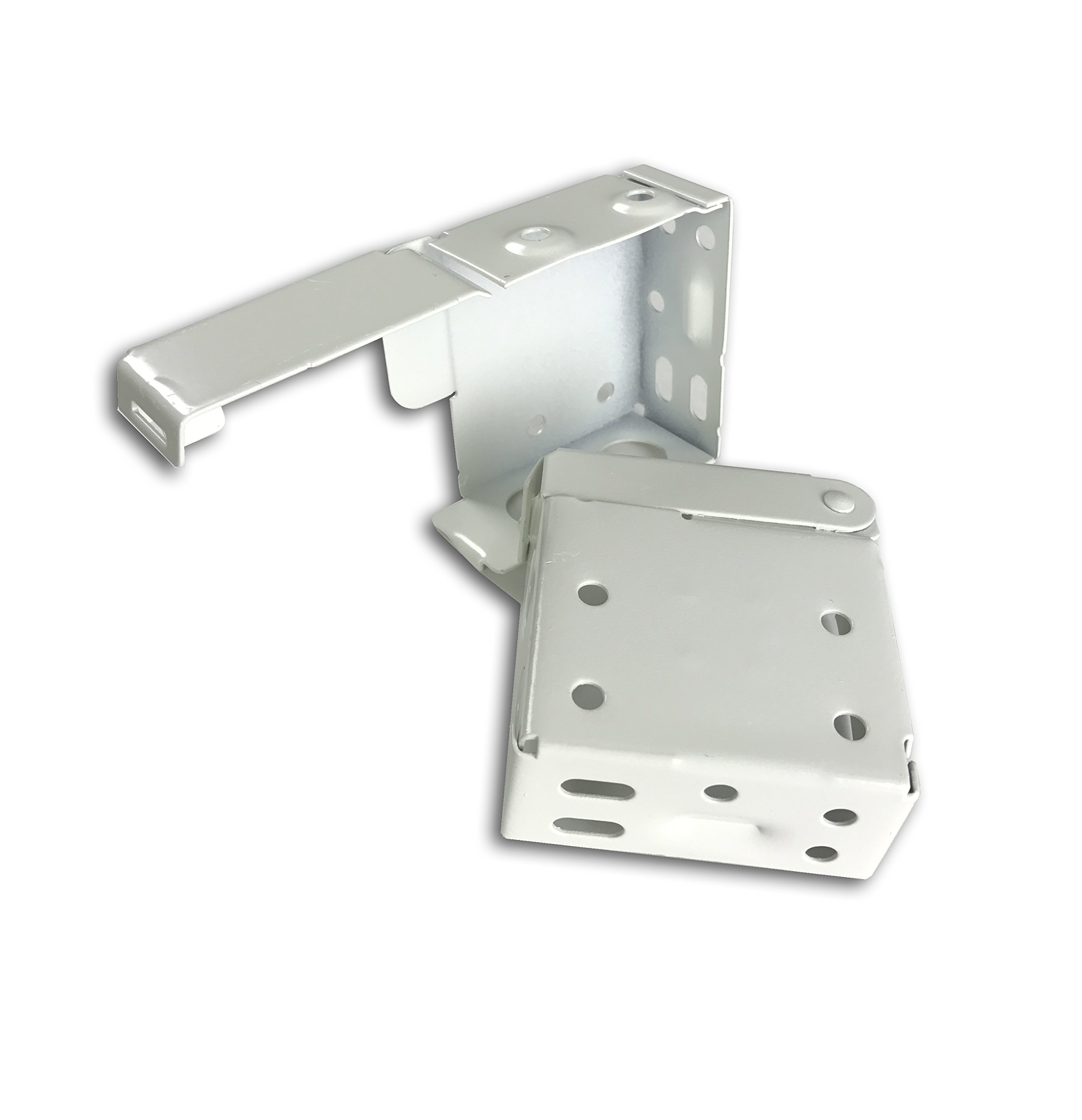 US Window And Floor 816282023343 2 in. Blind Installation Brackets, White (2 Pack)
