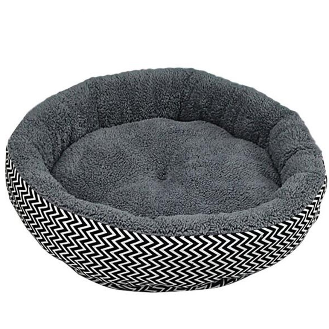 Cat Warmer Mat Winter Warm Round Dog Bed Soft Kitten Puppy Pets Mat for Small Dogs-Grey M