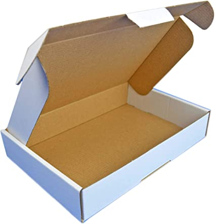 Cartón blanco 350x250x50mm Cierre de cartón adicional Ideal para ...