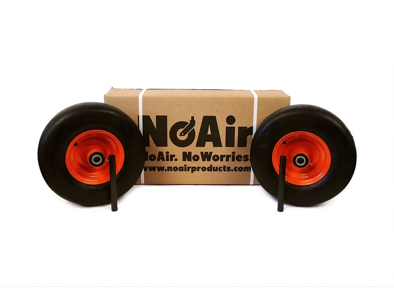 NoAir (2) Bad Boy Flat Free Wheel Assemblies 13x6.50-6 022-1050-00 Commercial Models MowerPartsGroup
