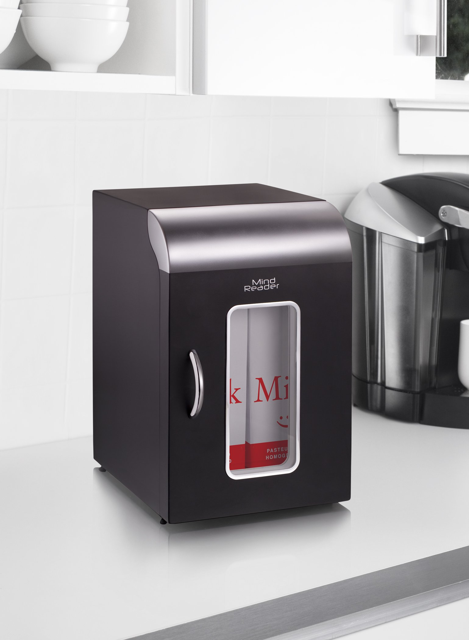Mind Reader Compact Portable Personal Mini Fridge, For Home, Office, Six Can Capacity, Holds 2 Quarts of Milk, Black by Mind Reader (Image #7)