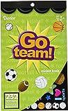 Darice 232-Piece, Go Team Themed Sticker Book (3-Pack)
