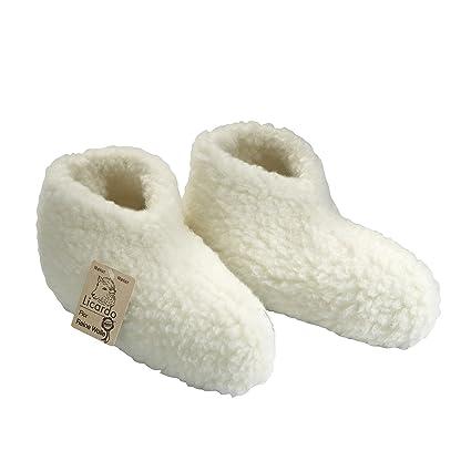 Linke Licardo - Calcetines para dormir con forro de lana, blanco, 36/37