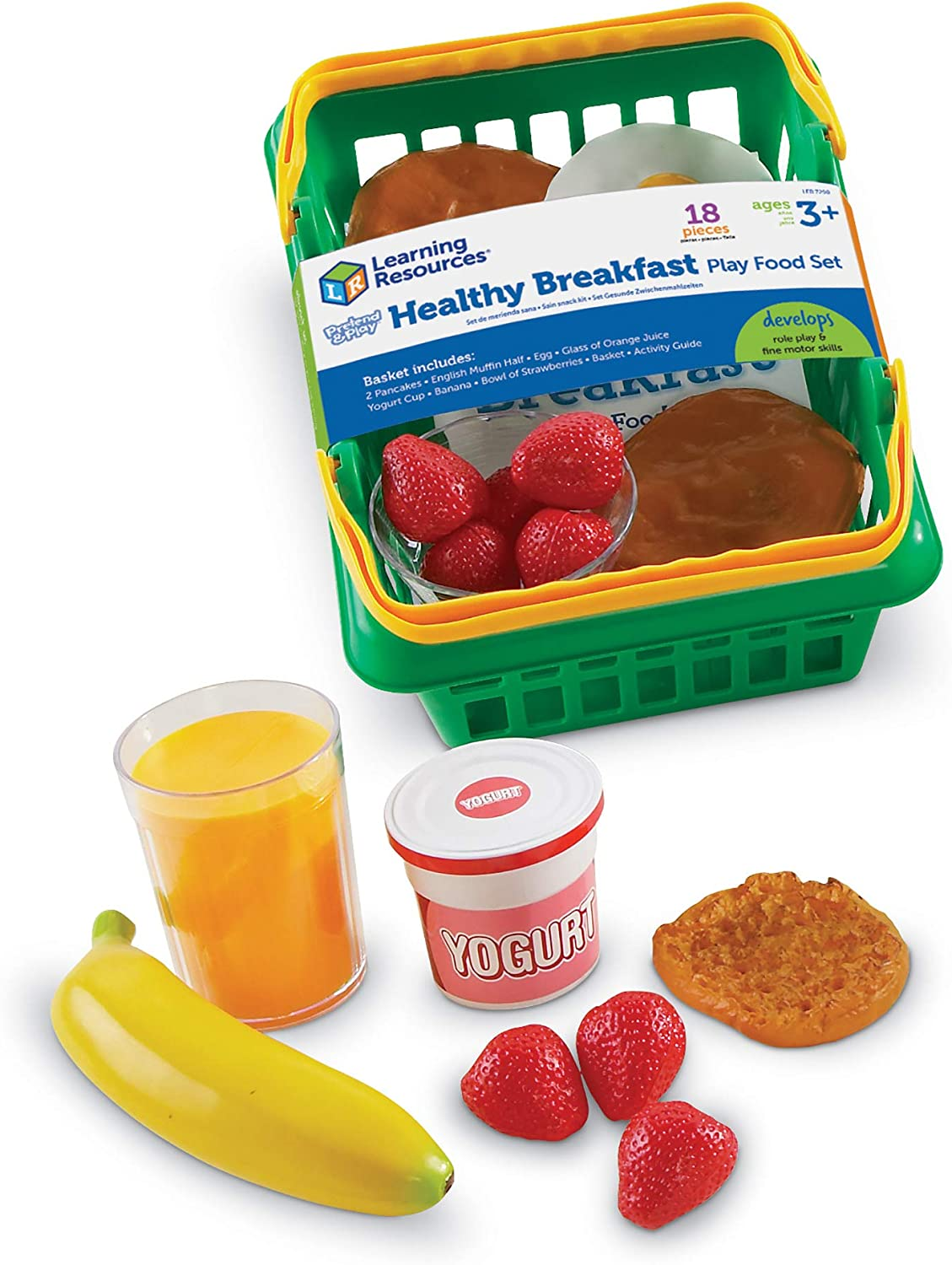 Learning Resources Healthy Breakfast Basket,Multi-color