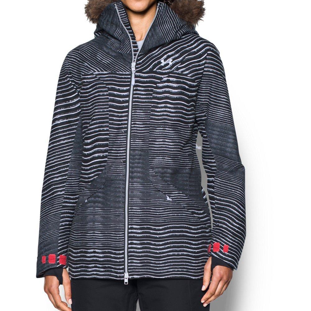 Under Armor Women's ColdGear Infrared Kymera Jacket, Black/Marathon Red, Small