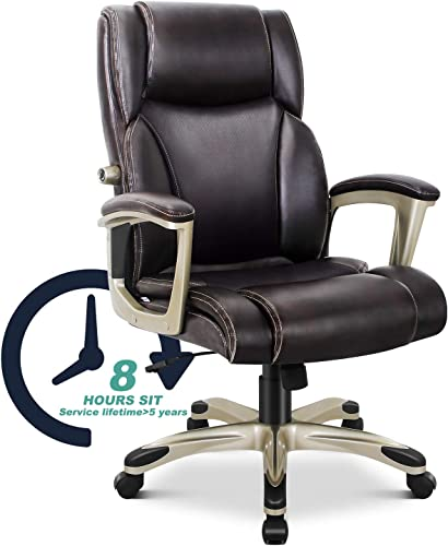Executive Leather Desk Chair Office Chair Home Computer Chair