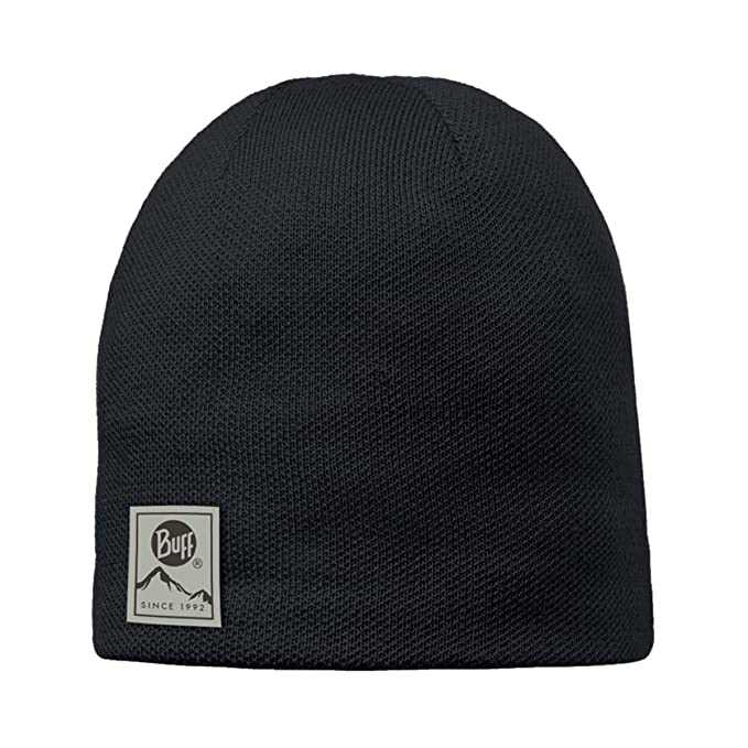 2d2bdf05a88 Amazon.com  Buff Adult Knitted   Polar Patterned Beanie Hat One Size Jorden  Black  Clothing