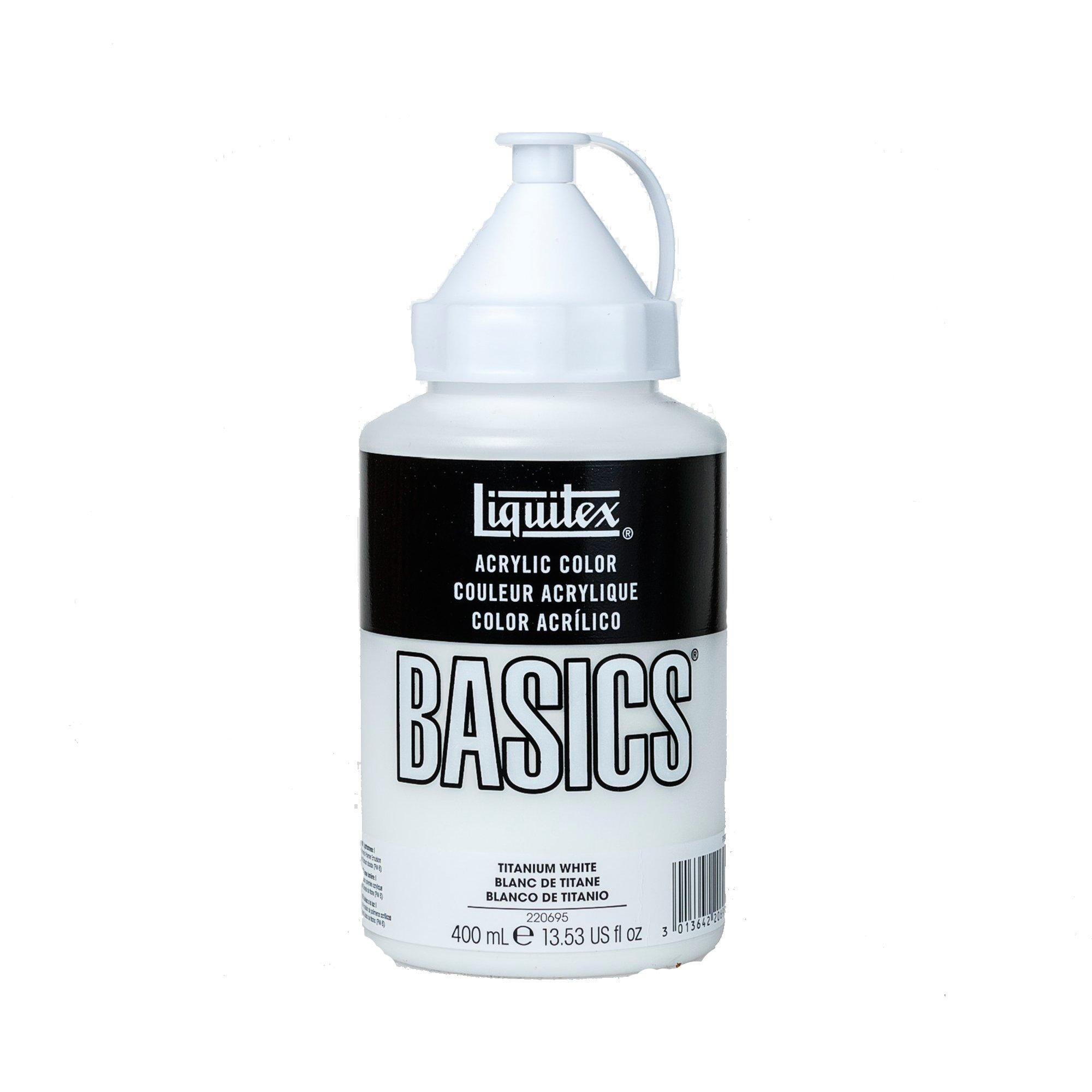 Liquitex BASICS Acrylic Paint, 13.5oz Squeeze Bottle, Titanium White