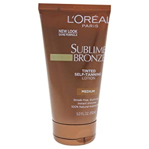 L'Oreal SUBLIME BRONZE Tinted Self-Tanning Lotion Medium Natural Tan 5 oz
