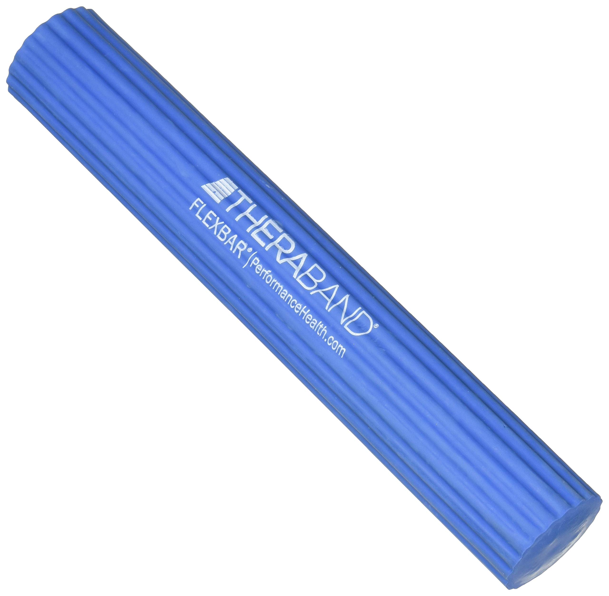 TheraBand FlexBar Resistance Bar for Medial Epicondylitis, Relieve Tendonitis Pain & Improve Grip Strength, Tennis Elbow, Golfers Elbow, and Tendinitis, Blue, Heavy, Advanced by TheraBand (Image #1)