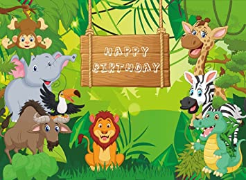 amazon com 2x1 5m jungle safari backdrop birthday backdrop photo