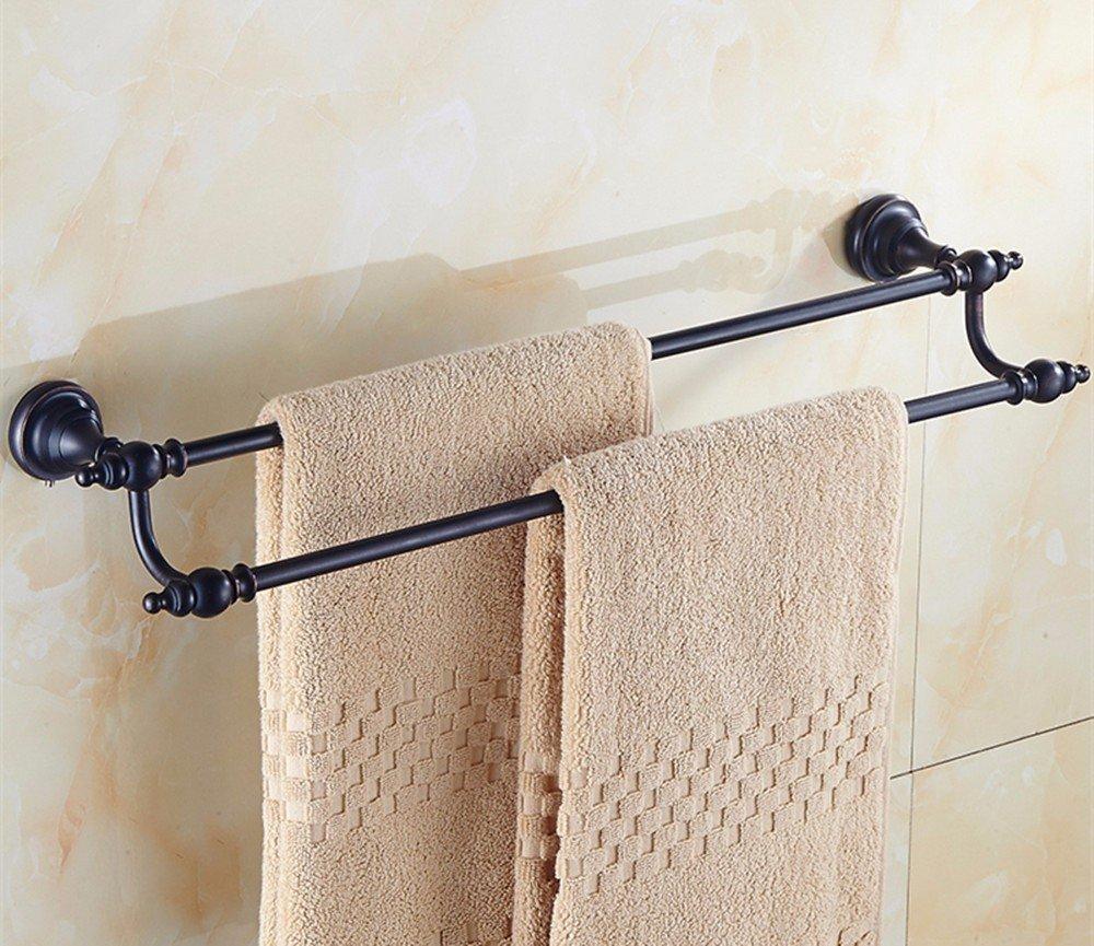 HOMEE All Copper Ceramic Towel Rack Towel Bar European Style Bathroom Bathroom Rack,D by HOMEE