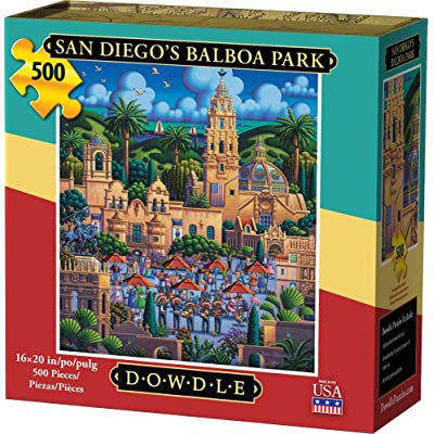 Dowdle Jigsaw Puzzle - San Diego's Balboa Park - 500 Piece: Toys & Games