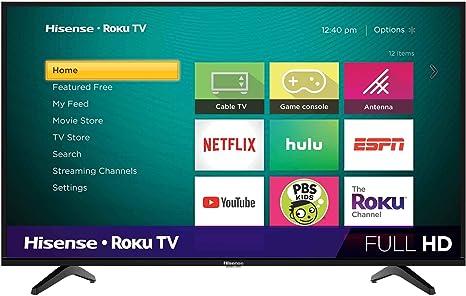 Hisense 32H4F LED Roku Smart TV Compatible con Alexa y Google Assistant: Amazon.es: Electrónica
