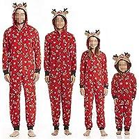 Pijamas Familiares Navideñas Pijama Navidad Familia Mono Navideños Mujer Niños Niña Hombre Pijama Reno Entero Una Pieza…