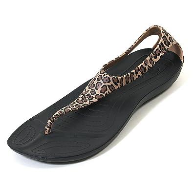 046ca42b754fed Crocs Sexi Wild Flip Womens Leopard (6)  Amazon.co.uk  Shoes   Bags
