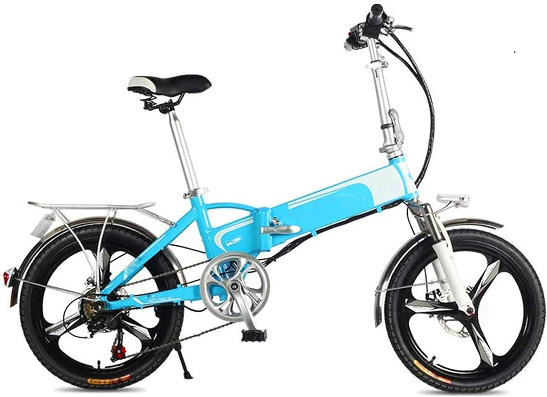 Bicicletas Eléctricas, Adulto Mini bicicleta eléctrica, Frenos de disco doble 20 '' plegable bicicleta eléctrica con control remoto de alarma inteligente del viajero urbano E-Bici batería extraíble ,B