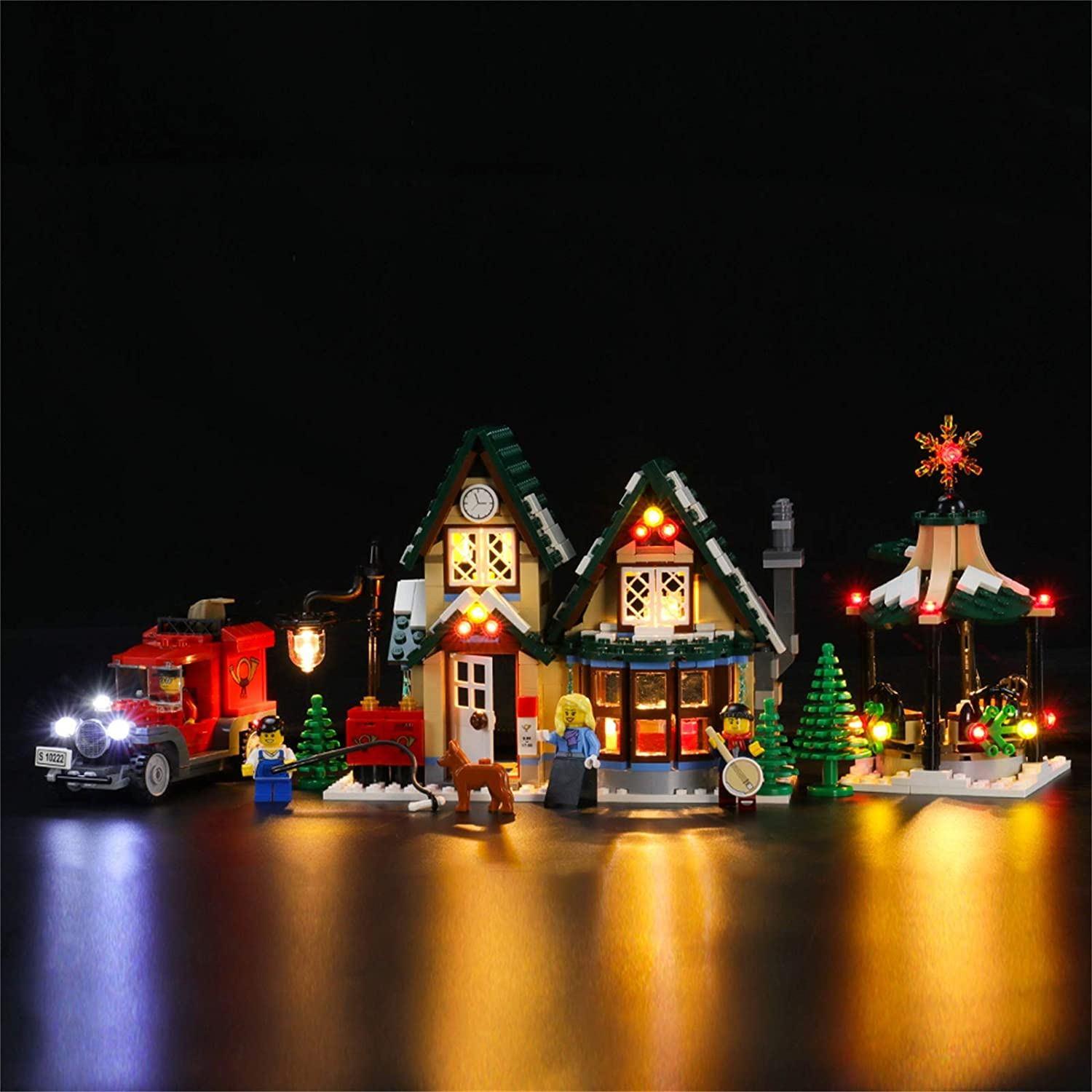 LIGHTAILING Light Set for (Creator Winter Village Post Office Building Blocks Model - Led Light kit Compatible with Lego 10222(NOT Included The Model)