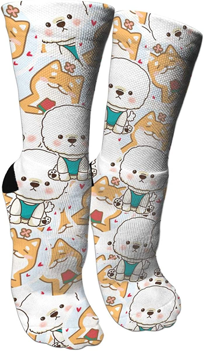 Shiba West Highland Terrier Crazy Socks Casual Socks Funny For Sports Boot Hiking Running Etc.