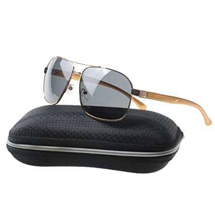 b445bf499fa Simvey Sports Polarized Sunglasses for Men Hunting Fishing Driving Golf  Al-Mg Metal Frame