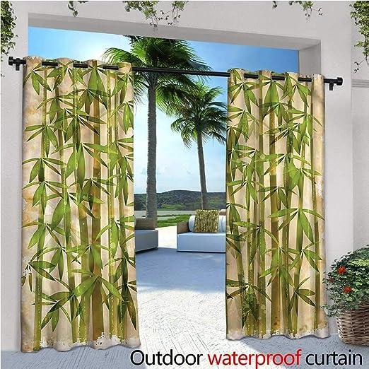 warmfamily - Cortina de bambú para Exteriores, diseño Moderno de ...
