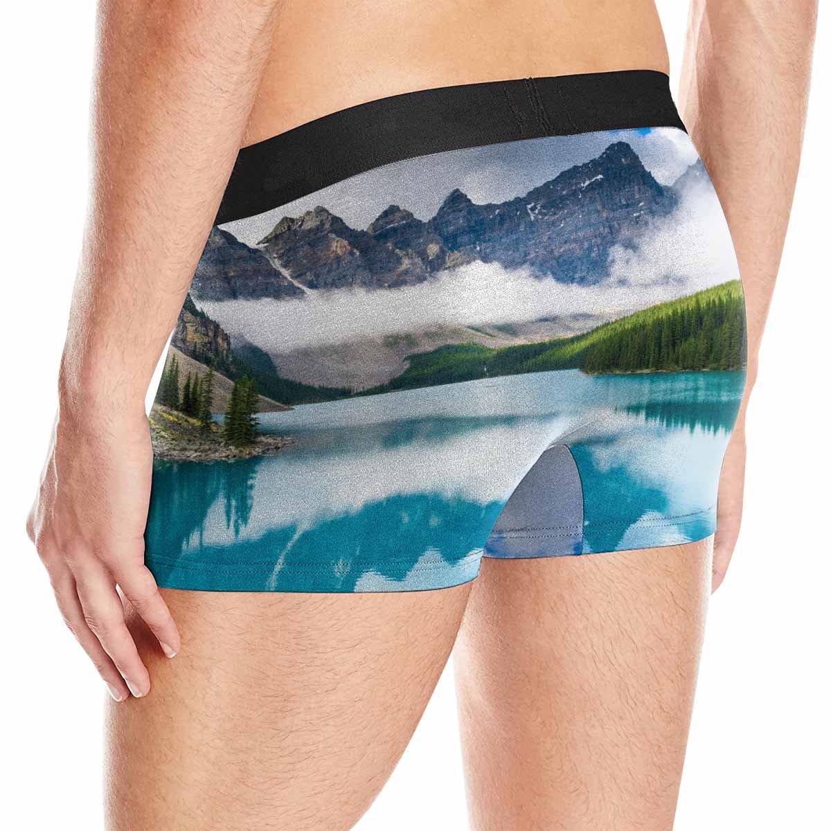 Alberta INTERESTPRINT Boxer Briefs Mens Underwear Moraine Lake in Banff National Park XS-3XL Canada
