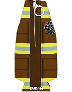 TooLoud Firefighter Red AOP Collapsible Neoprene Bottle Insulator All Over Print