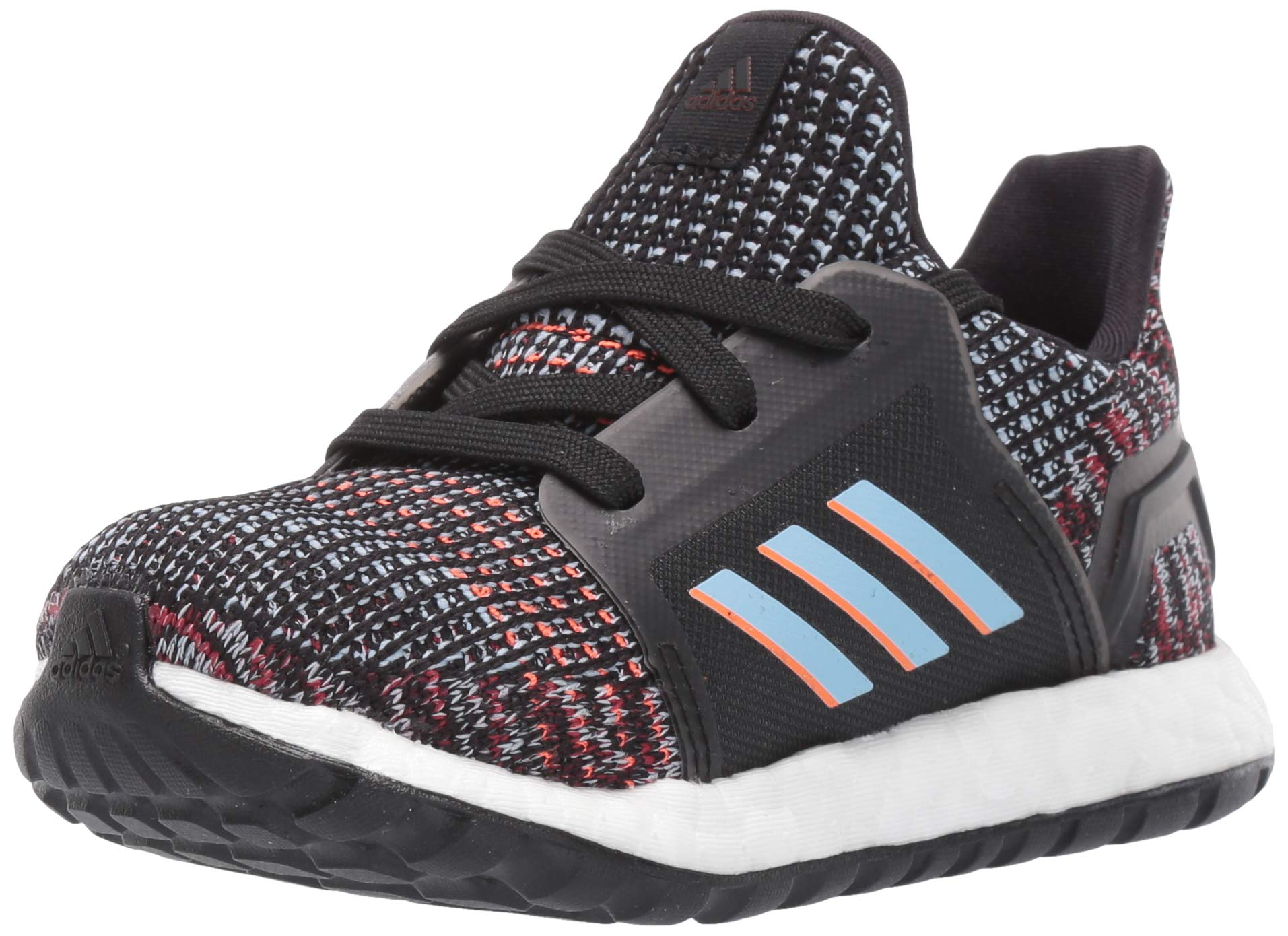 adidas Baby Ultraboost 19 Running Shoe, Black/Glow Blue/hi-res Coral, 9K M US Toddler