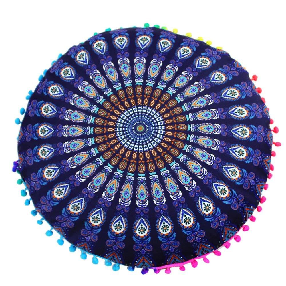 VJGOAL Moda Casual India Mandala Piso Funda de Almohada ...