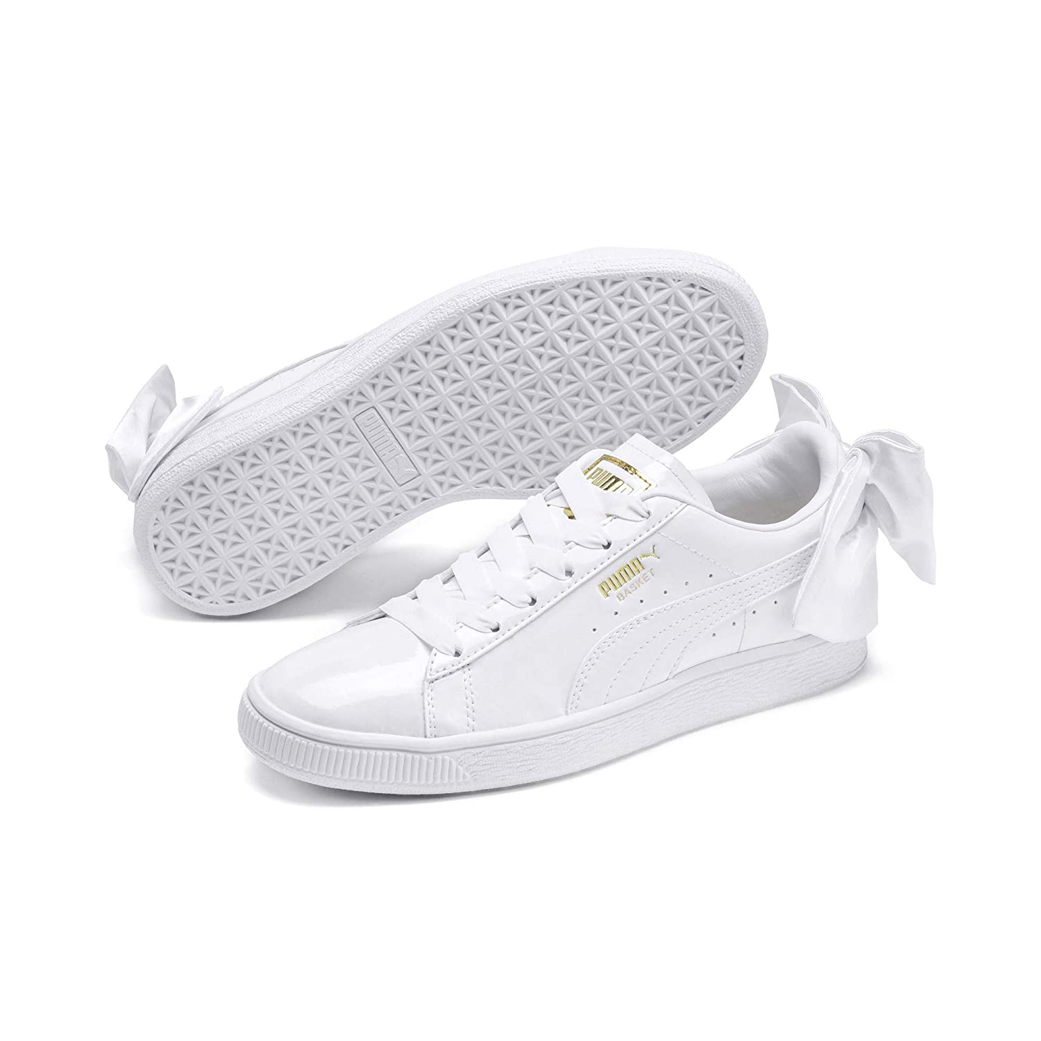 Basket Bow Patent Wn S White W Sneakers