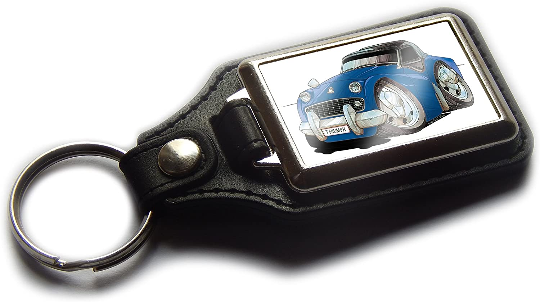 Koolart Porte-cl/és Voiture de Sport TR3 Classique en Cuir et Chrome de qualit/é Silver