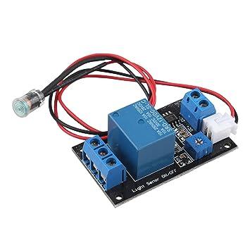 HALJIA 24V Photowiderstand Modul Lichtrelais Relais Modul Lichtsteuerung Schalter Erkennungssensor lichtschalter F/ür Arduino