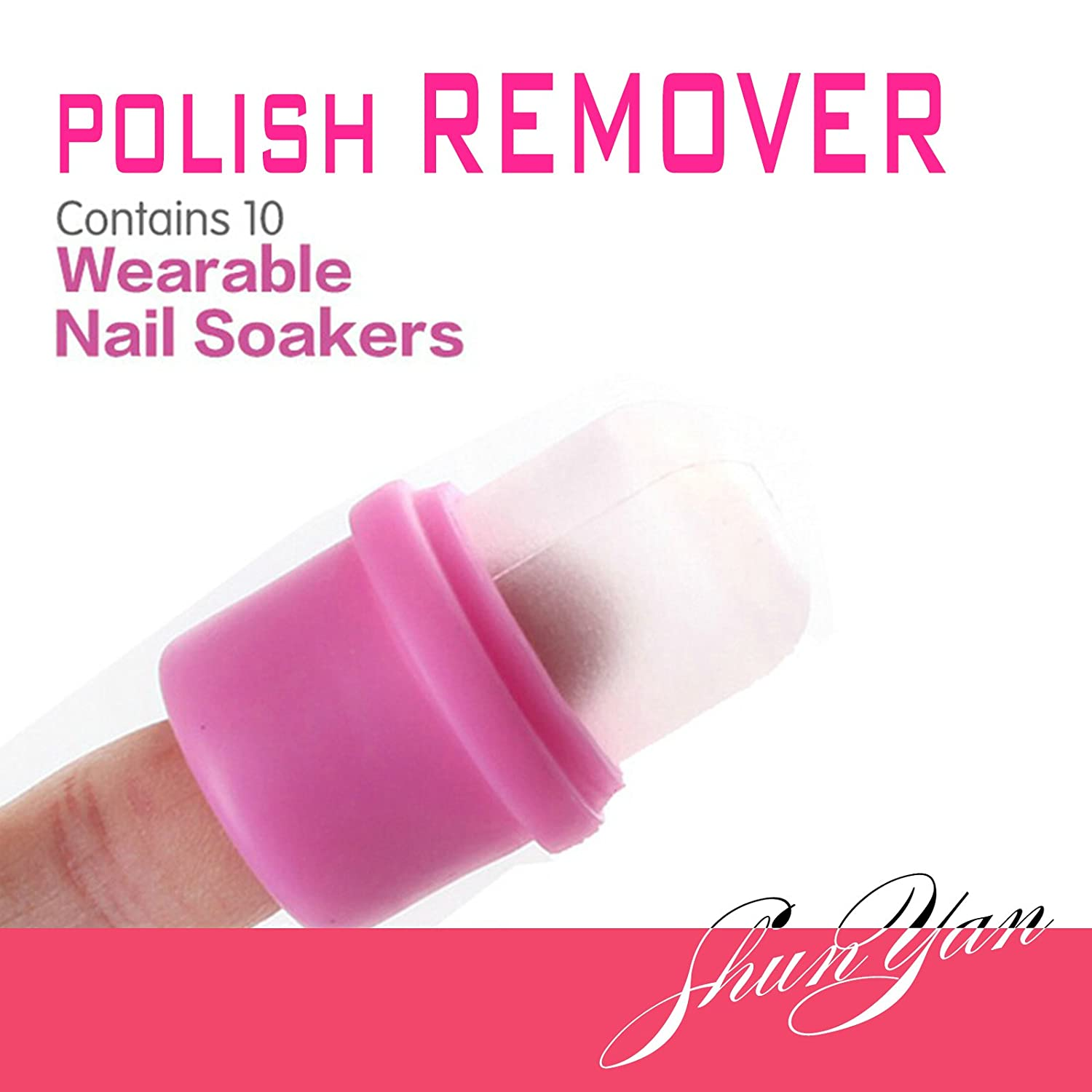 10PC wearable nail art soakers Ongle acrylic removal by Candy Lover ...
