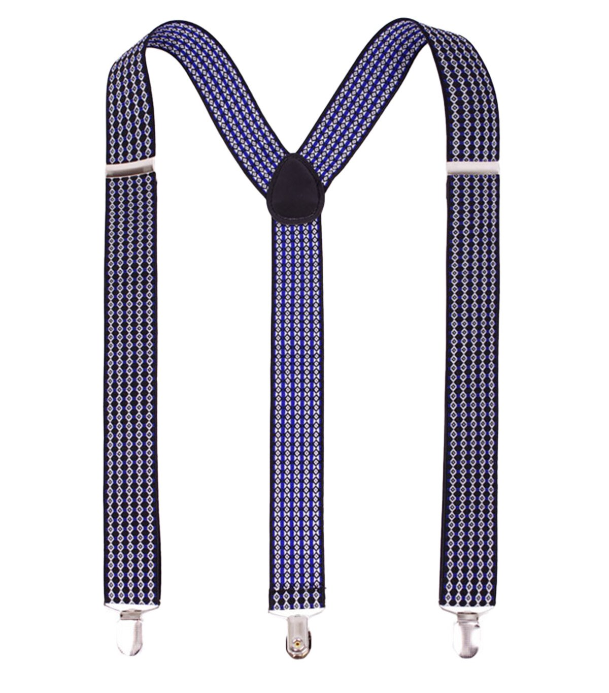 Wide Suspenders with Strong Clips for Mens Elastic Braces Heavy Duty