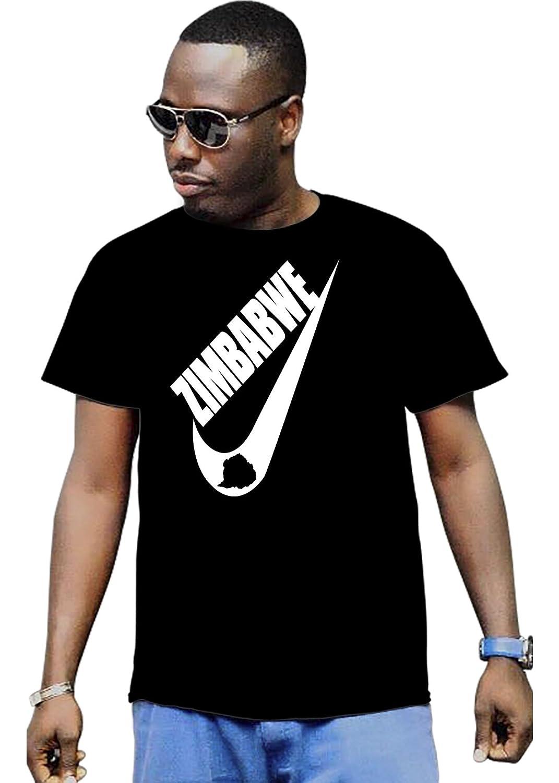 Cali Dreamers Men's I love Zimbabwe flag map Africa map t-shirt black