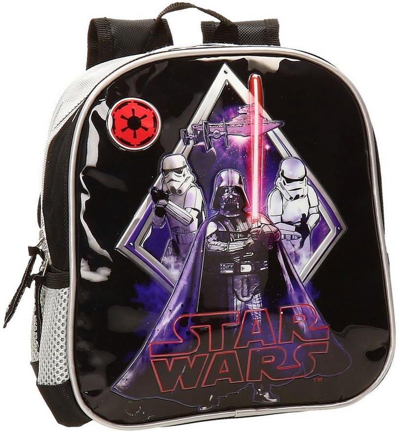 Star Wars Darth Vader Mochila Preescolar, Color Negro