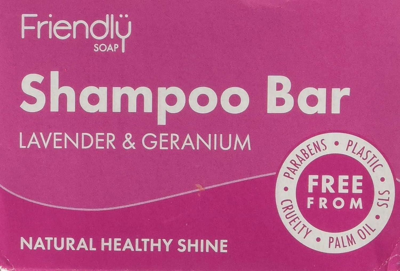 Friendly Soap Natural Shampoo Bar – Lavender & Geranium 95g