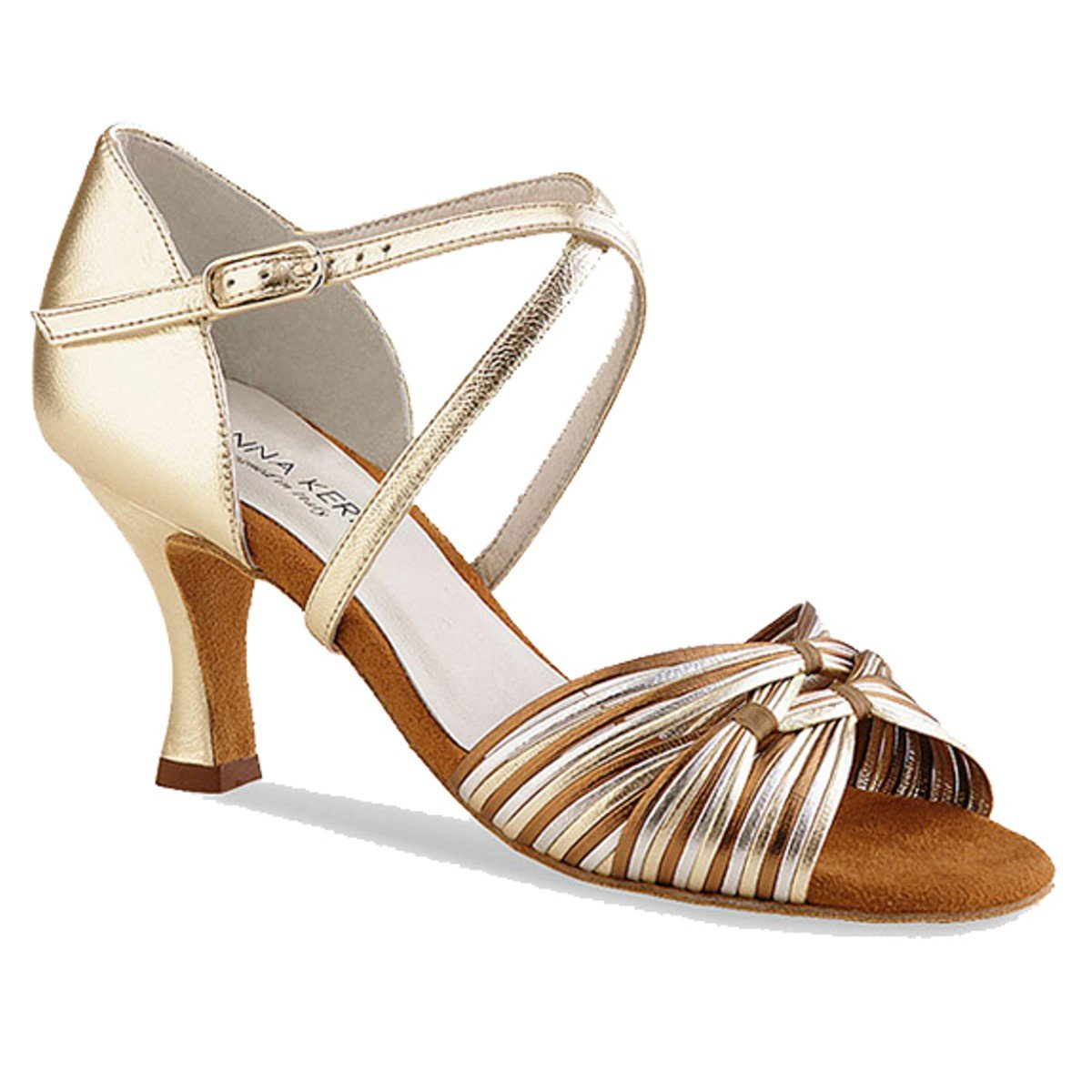 Anna Kern Femmes Chaussures de Danse 624-50 Cuir Noir 5 cm