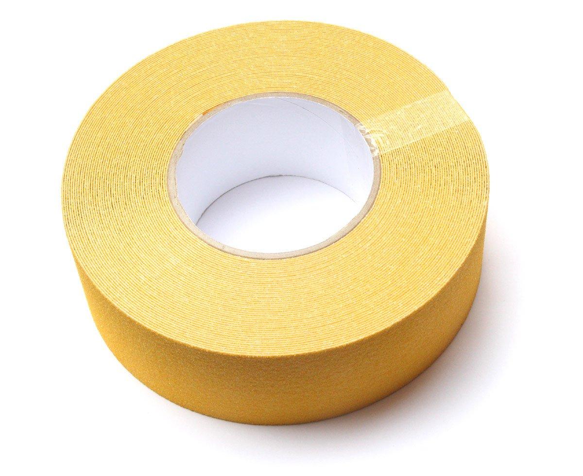 longitud 18/m x ancho 25/mm x grosor 0,70/mm Bonus Eurotech 1bl43.30.0025//018/antideslizante cinta adhesiva pegamento a base de acr/ílico crep/é PVC Pantalla Negro//Amarillo