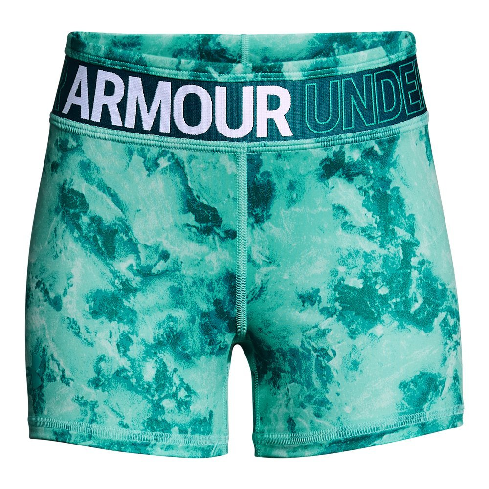 Under Armour Girls' HeatGear Armour Printed Shorty, Teal Punch /Teal Punch, Youth X-Large by Under Armour