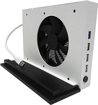 LeSB Xbox One S Ventilador de Soporte Vertical y 4 Puertos USB Hub ...
