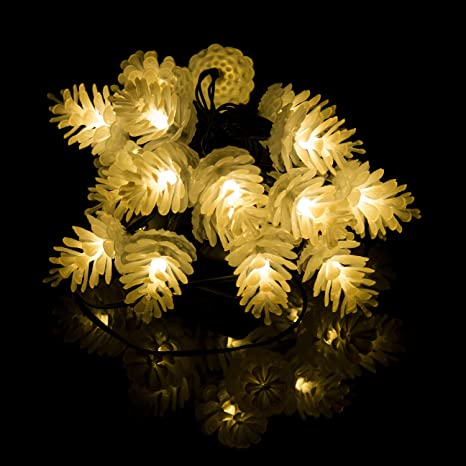 Luces Tira Decorativas Exterior LED Solares Luces de Navidad Luz de Cadena Guirnalda de Luces LED